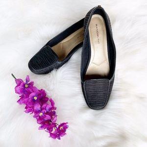 Bandolino Black Zebra Slip On Loafers Flats Sz 8.5